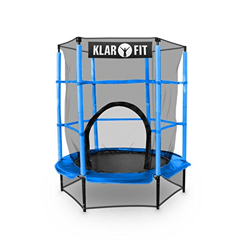 klarfit rocketkid mini trampolin kleines indoor oder gartentrampolin mit sicherheitsnetz f r. Black Bedroom Furniture Sets. Home Design Ideas